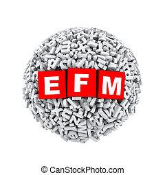 3d alphabet letter character sphere ball efm