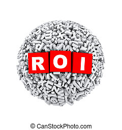 3d alphabet letter character sphere ball roi