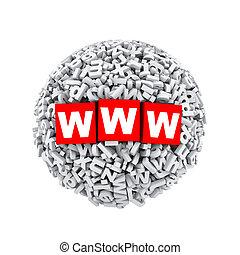 3d alphabet letter character sphere ball www