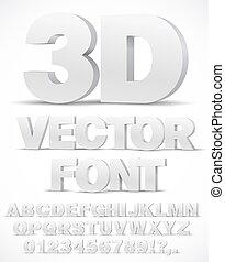 alphabet vector font