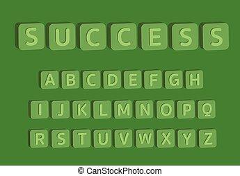 3D alphabet with word success