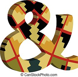 3d Ampersand symbol - Colorful three-dimensional Ampersand ...