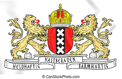 Amsterdam Coat of Arms, Netherlands.