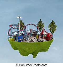 3d amusement park.