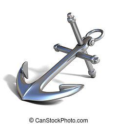 3d anchor on white background illustration