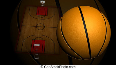 3d Animated Basketball Court