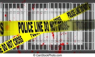 3D Animated Prison Crimes Background