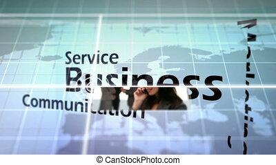 3d animatie, van, zakenbegrip
