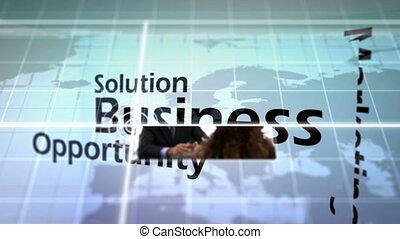 3d animation, di, affari, situazioni