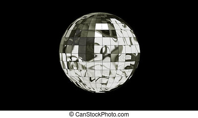 3D Animation Disco Ball with Alpha Channel looped Video on a...
