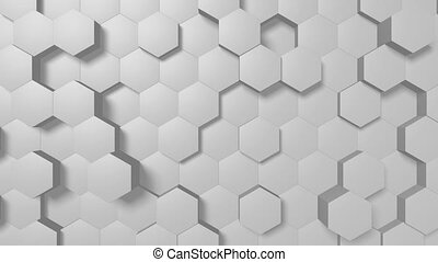 3D animation - hexagons background
