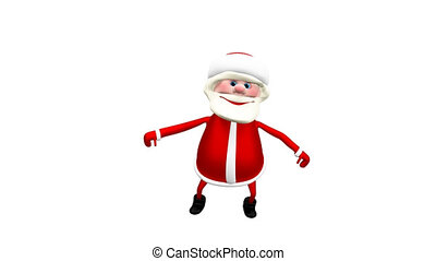 3D animation Jumping  Santa with Alpha Channel
