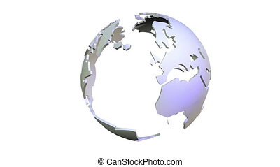 3D Animation of a rotating Globe