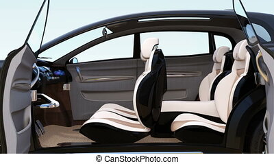 3D animation of autonomous SUV car interior concept....