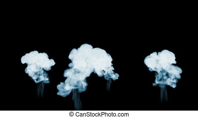 3d animation of beautiful smoke on a black background for visual effects with smoke. V1