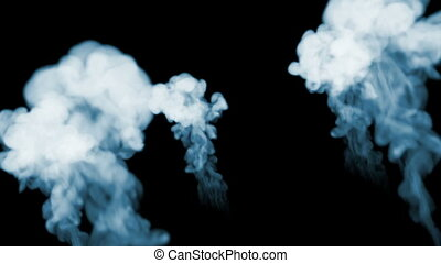 3d animation of beautiful smoke on a black background for visual effects with smoke. V16