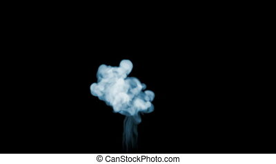 3d animation of beautiful smoke on a black background for...