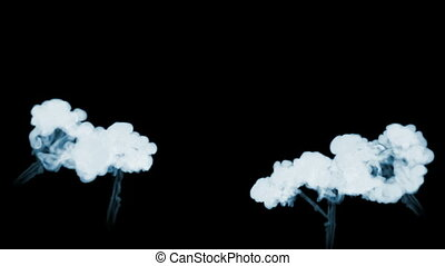 3d animation of beautiful smoke on a black background for visual effects with smoke. V8