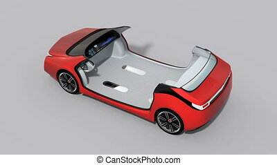 3D animation of car interior