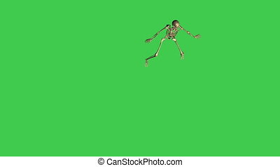 skeleton baseball lead - separate on green screen - 3d ...