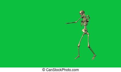 skeleton exercise karate - separate on green screen - 3d ...
