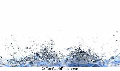 3D animation of splashing water