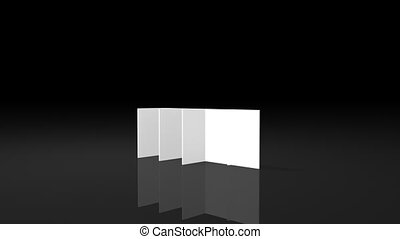 3D animation of the construction piece by piece of a white...