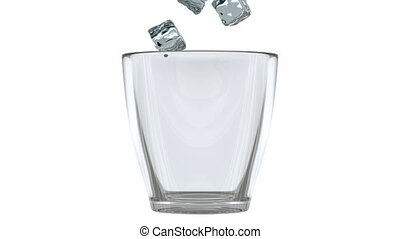 3D animation of the glass and ice