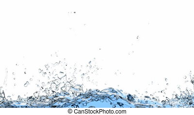 3D animation of the water filling the screen