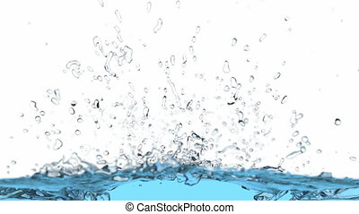 3D animation of the water