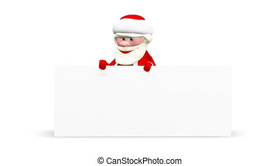3D Animation Santa Claus with White Background and Alpha Channel