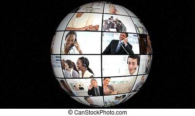 3d animation, su, affari, conversati