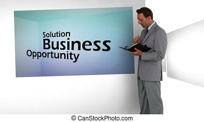 3d animation, su, concetti affari