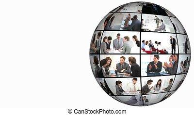 3d animation, su, conferenza affari