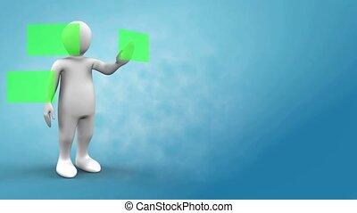 3d animation, vert, champs