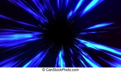 3d Animation with Blue Glowing Energy Light Effect on Dark ...