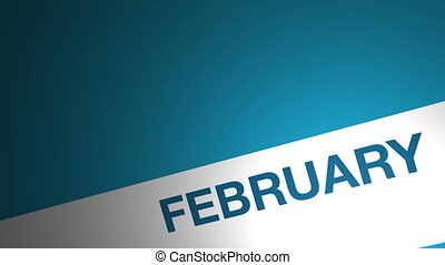 3d animation year calendar