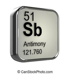 3d render of antimony element design