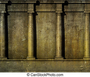 3d antique classic architecture Greek Roman wall render