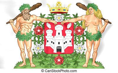 Antwerp Coat of Arms City, Belgium.
