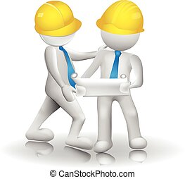 3d Architects workers icon image logo