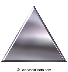 3d, argento, triangolo