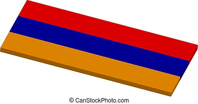 3D Armenia flag Vector illustration.