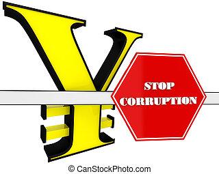3d, arrêt, corruption, signe
