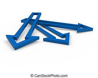3d arrow blue