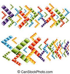 3d Arrow Cubes