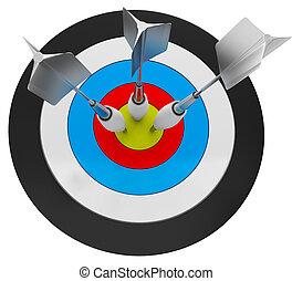 3d Arrow Darts and Target
