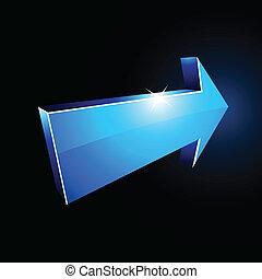 3d, arrow.