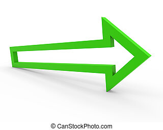3d arrow green way - 3d arrow green up way icon sign growth