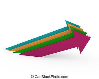 3d arrow high colorful success